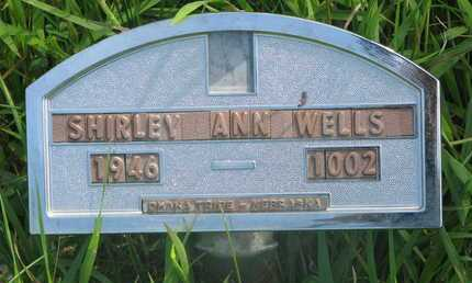 WELLS, SHIRLEY ANN - Thurston County, Nebraska | SHIRLEY ANN WELLS - Nebraska Gravestone Photos