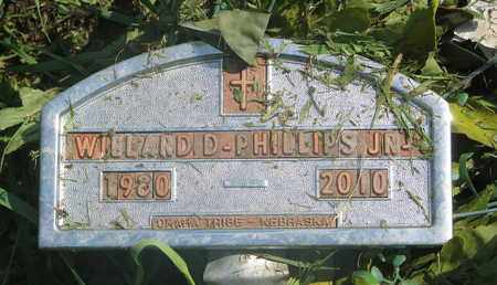 PHILLIPS, WILLARD D. JR. - Thurston County, Nebraska | WILLARD D. JR. PHILLIPS - Nebraska Gravestone Photos