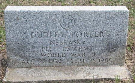 PORTER, DUDLEY (MILITARY) - Thurston County, Nebraska | DUDLEY (MILITARY) PORTER - Nebraska Gravestone Photos