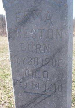 PRESTON, ERMA (CLOSE UP) - Thurston County, Nebraska   ERMA (CLOSE UP) PRESTON - Nebraska Gravestone Photos