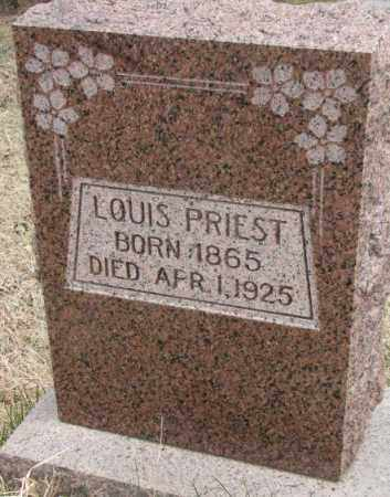 PRIEST, LOUIS - Thurston County, Nebraska | LOUIS PRIEST - Nebraska Gravestone Photos