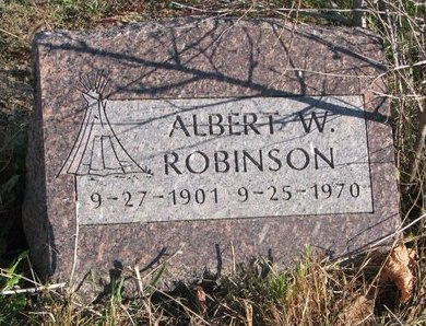 ROBINSON, ALBERT W. - Thurston County, Nebraska   ALBERT W. ROBINSON - Nebraska Gravestone Photos