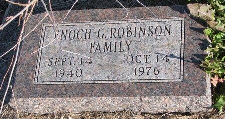 ROBINSON, ENOCH G. - Thurston County, Nebraska   ENOCH G. ROBINSON - Nebraska Gravestone Photos