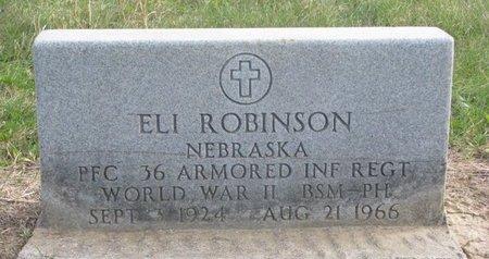 ROBINSON, ELI - Thurston County, Nebraska | ELI ROBINSON - Nebraska Gravestone Photos