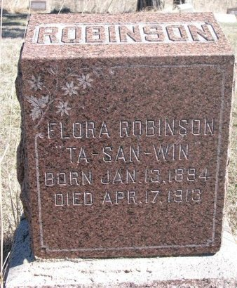 ROBINSON, FLORA - Thurston County, Nebraska | FLORA ROBINSON - Nebraska Gravestone Photos