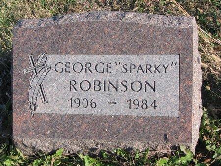 """ROBINSON, GEORGE """"SPARKY"""" - Thurston County, Nebraska   GEORGE """"SPARKY"""" ROBINSON - Nebraska Gravestone Photos"""