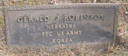 ROBINSON, GERALD J. - Thurston County, Nebraska | GERALD J. ROBINSON - Nebraska Gravestone Photos