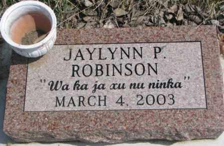 ROBINSON, JAYLYNN P. - Thurston County, Nebraska | JAYLYNN P. ROBINSON - Nebraska Gravestone Photos