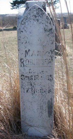 ROBINSON, MARY - Thurston County, Nebraska | MARY ROBINSON - Nebraska Gravestone Photos