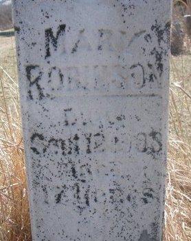 ROBINSON, MARY (CLOSE UP) - Thurston County, Nebraska   MARY (CLOSE UP) ROBINSON - Nebraska Gravestone Photos