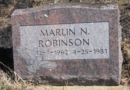 ROBINSON, MARLIN N. - Thurston County, Nebraska | MARLIN N. ROBINSON - Nebraska Gravestone Photos