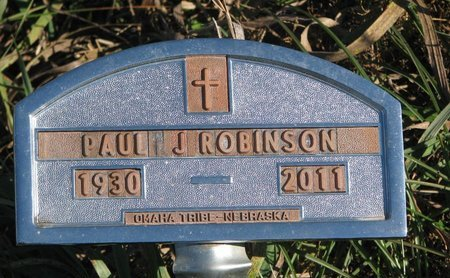 ROBINSON, PAUL J. - Thurston County, Nebraska | PAUL J. ROBINSON - Nebraska Gravestone Photos
