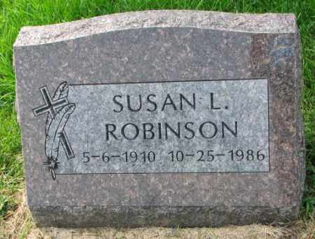 ROBINSON, SUSAN L. - Thurston County, Nebraska | SUSAN L. ROBINSON - Nebraska Gravestone Photos