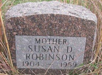 ROBINSON, SUSAN D. - Thurston County, Nebraska | SUSAN D. ROBINSON - Nebraska Gravestone Photos