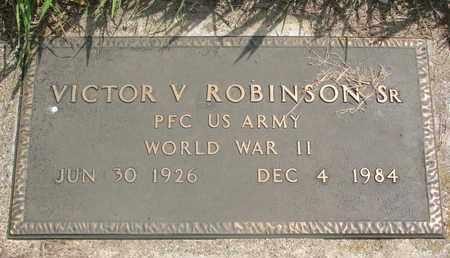 ROBINSON, VICTOR V. SR. (MILITARY) - Thurston County, Nebraska | VICTOR V. SR. (MILITARY) ROBINSON - Nebraska Gravestone Photos