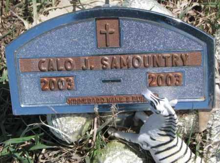 SAMOUNTRY, CALO J. - Thurston County, Nebraska | CALO J. SAMOUNTRY - Nebraska Gravestone Photos