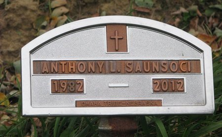 SAUNSOCI, ANTHONY D. - Thurston County, Nebraska | ANTHONY D. SAUNSOCI - Nebraska Gravestone Photos