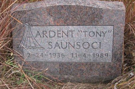 "SAUNSOCI, ARDENT ""TONY"" - Thurston County, Nebraska | ARDENT ""TONY"" SAUNSOCI - Nebraska Gravestone Photos"