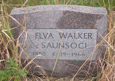 WALKER SAUNSOCI, ELVA - Thurston County, Nebraska | ELVA WALKER SAUNSOCI - Nebraska Gravestone Photos
