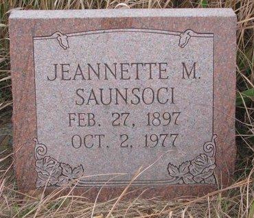 SAUNSOCI, JEANNETTE M. - Thurston County, Nebraska | JEANNETTE M. SAUNSOCI - Nebraska Gravestone Photos