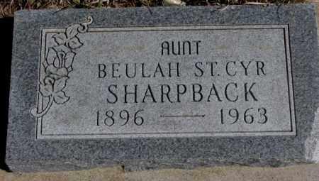 ST. CYR SHARPBACK, BEULAH - Thurston County, Nebraska | BEULAH ST. CYR SHARPBACK - Nebraska Gravestone Photos