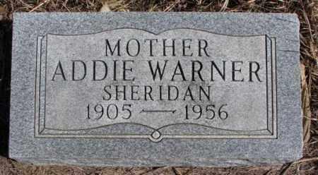 SHERIDAN, ADDIE - Thurston County, Nebraska | ADDIE SHERIDAN - Nebraska Gravestone Photos