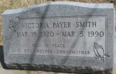 PAYER SMITH, VICTORIA - Thurston County, Nebraska   VICTORIA PAYER SMITH - Nebraska Gravestone Photos