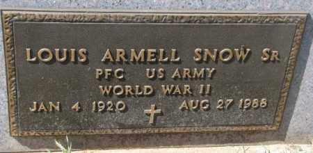 SNOW, LOUIS ARMELL SR. - Thurston County, Nebraska   LOUIS ARMELL SR. SNOW - Nebraska Gravestone Photos