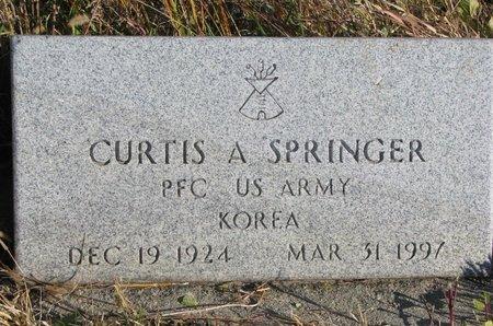 SPRINGER, CURTIS A. - Thurston County, Nebraska | CURTIS A. SPRINGER - Nebraska Gravestone Photos