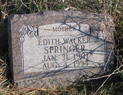 WALKER SPRINGER, EDITH - Thurston County, Nebraska | EDITH WALKER SPRINGER - Nebraska Gravestone Photos