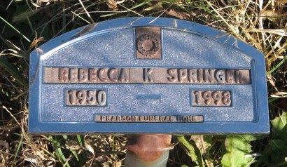 SPRINGER, REBECCA K. - Thurston County, Nebraska | REBECCA K. SPRINGER - Nebraska Gravestone Photos