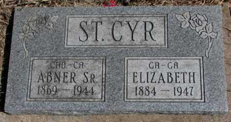 ST. CYR, ABNER SR. - Thurston County, Nebraska   ABNER SR. ST. CYR - Nebraska Gravestone Photos