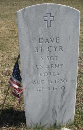 ST. CYR, DAVE - Thurston County, Nebraska | DAVE ST. CYR - Nebraska Gravestone Photos