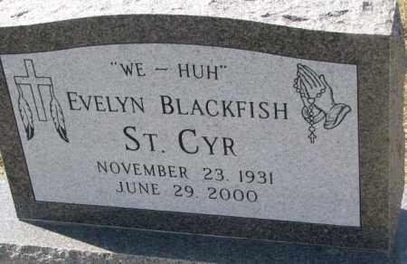 ST. CYR, EVELYN - Thurston County, Nebraska   EVELYN ST. CYR - Nebraska Gravestone Photos