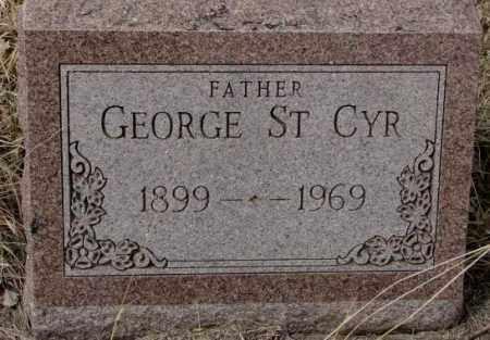 ST. CYR, GEORGE - Thurston County, Nebraska   GEORGE ST. CYR - Nebraska Gravestone Photos