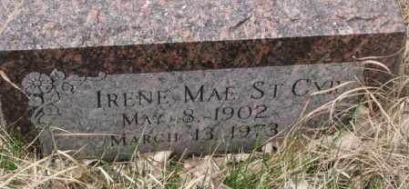 ST. CYR, IRENE MAE - Thurston County, Nebraska   IRENE MAE ST. CYR - Nebraska Gravestone Photos