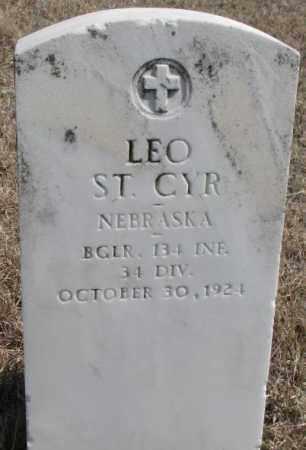 ST. CYR, LEO - Thurston County, Nebraska | LEO ST. CYR - Nebraska Gravestone Photos