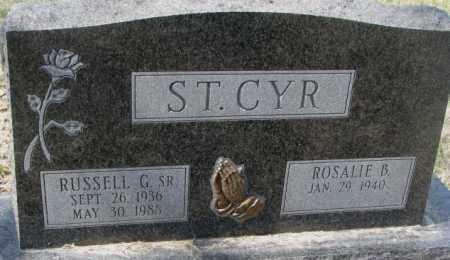 ST. CYR, RUSSELL G. SR. - Thurston County, Nebraska | RUSSELL G. SR. ST. CYR - Nebraska Gravestone Photos