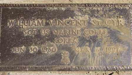 ST. CYR, WILLIAM VINCENT - Thurston County, Nebraska   WILLIAM VINCENT ST. CYR - Nebraska Gravestone Photos