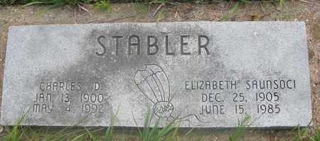 STABLER, ELIZABETH - Thurston County, Nebraska | ELIZABETH STABLER - Nebraska Gravestone Photos