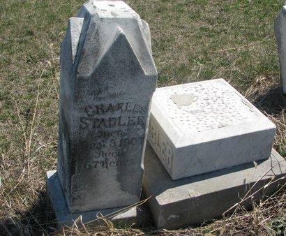 STABLER, CHARLES - Thurston County, Nebraska | CHARLES STABLER - Nebraska Gravestone Photos