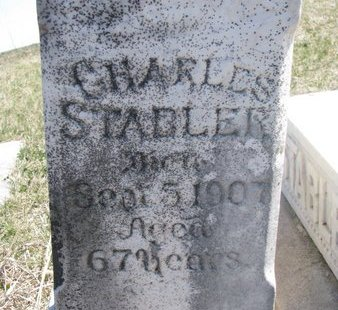 STABLER, CHARLES (CLOSE UP) - Thurston County, Nebraska | CHARLES (CLOSE UP) STABLER - Nebraska Gravestone Photos