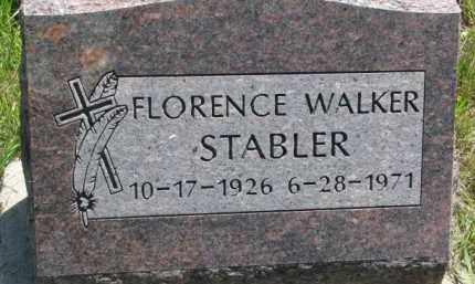 STABLER, FLORENCE  WALKER - Thurston County, Nebraska | FLORENCE  WALKER STABLER - Nebraska Gravestone Photos