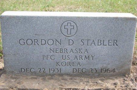 STABLER, GORDON D. - Thurston County, Nebraska | GORDON D. STABLER - Nebraska Gravestone Photos