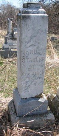 STABLER, JORDAN - Thurston County, Nebraska   JORDAN STABLER - Nebraska Gravestone Photos