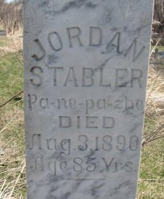 STABLER, JORDAN (CLOSE UP) - Thurston County, Nebraska | JORDAN (CLOSE UP) STABLER - Nebraska Gravestone Photos