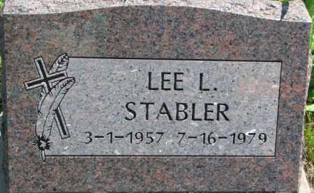 STABLER, LEE L. - Thurston County, Nebraska   LEE L. STABLER - Nebraska Gravestone Photos