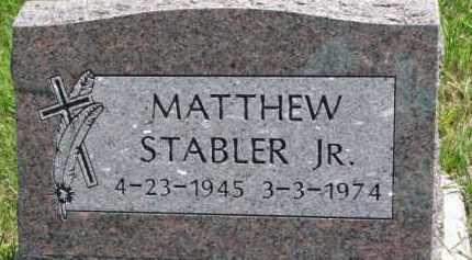 STABLER, MATTHEW JR. - Thurston County, Nebraska | MATTHEW JR. STABLER - Nebraska Gravestone Photos
