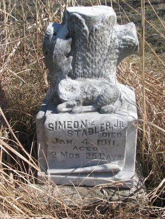 STABLER, SIMEON, JR. - Thurston County, Nebraska   SIMEON, JR. STABLER - Nebraska Gravestone Photos
