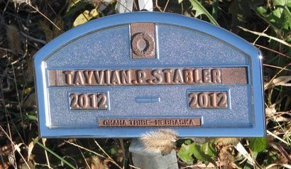 STABLER, TAYVIAN P. - Thurston County, Nebraska   TAYVIAN P. STABLER - Nebraska Gravestone Photos